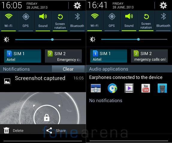 Samsung Galaxy Grand Quattro Notification