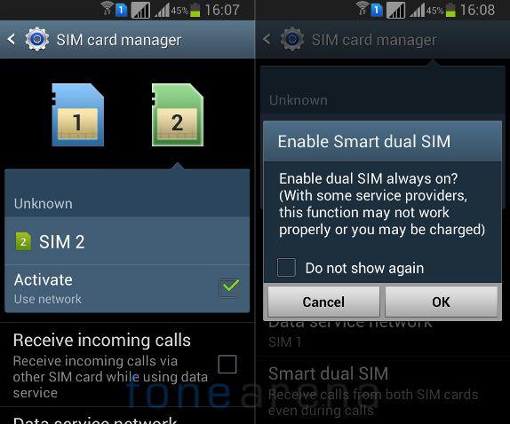 Kích hoạt chế độ SIM kép