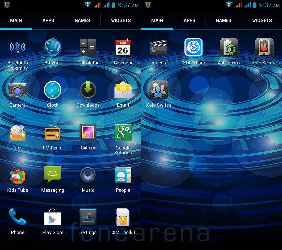 Xolo Q700 Apps