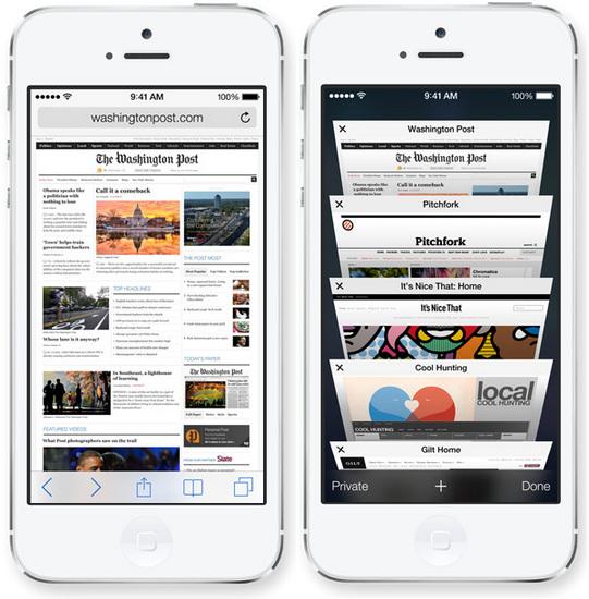 iOS 7 Safari