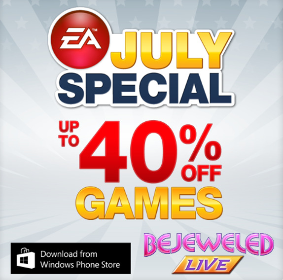EA Windows Phone Games Sale July 2013