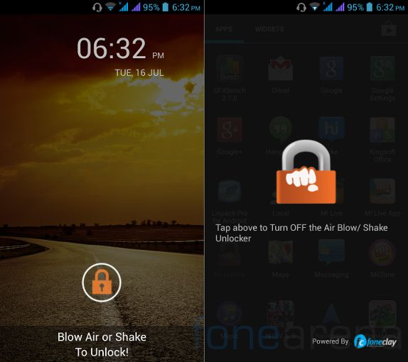 Micromax Canvas 4 Blow to Unlock