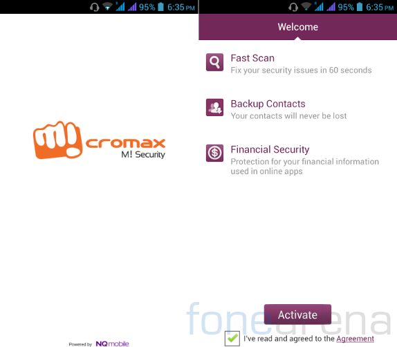 Micromax Canvas 4  M! Security