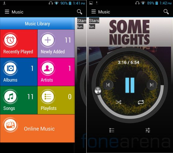 Micromax Canvas 4 Music Player