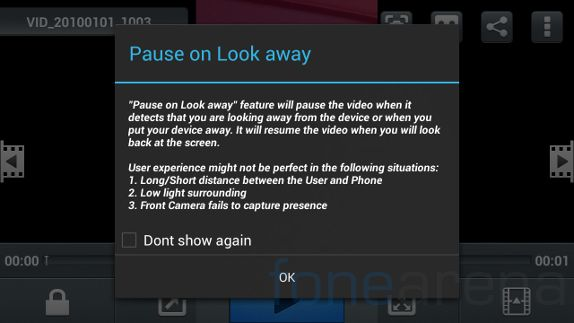 Micromax Canvas 4 Pause On Look away