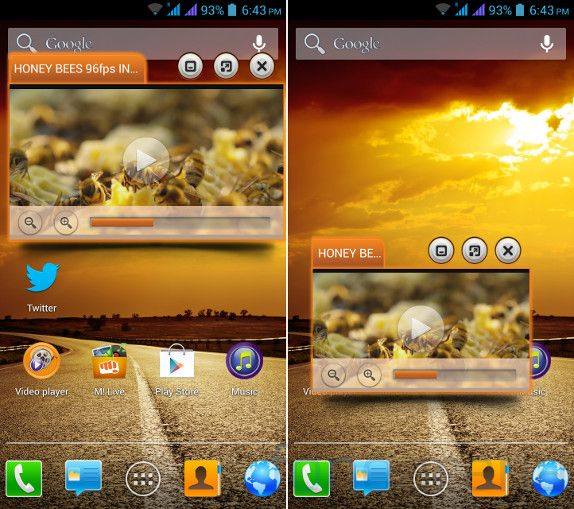 Micromax Canvas 4 Video Pinning