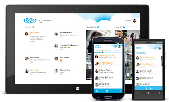 Skype for Android v4.0 UI