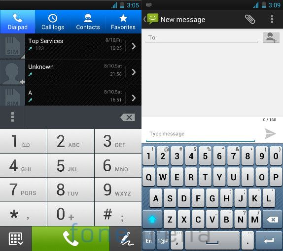 Asus Padfone Infinity Dialer and Messaging