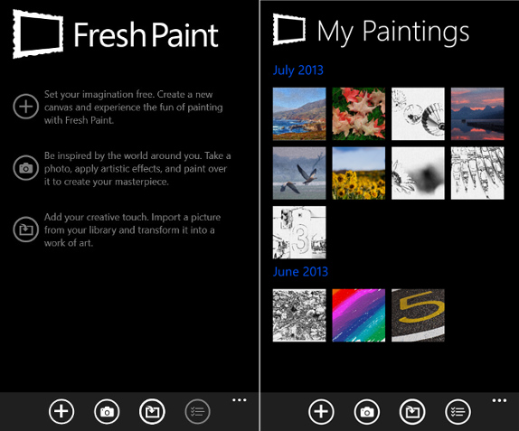 Microsoft S Fresh Paint App Now Supports Wp 8 Devices With 512mb Of Ram