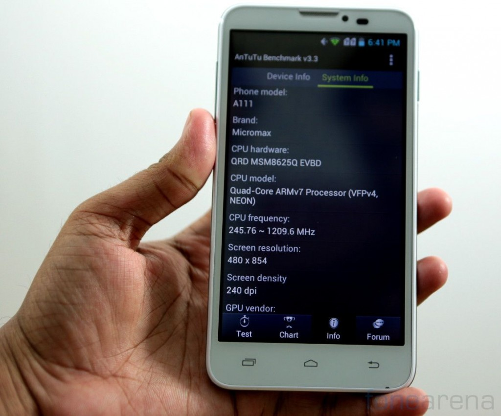 Micromax A111 Canvas Doodle Benchmarks