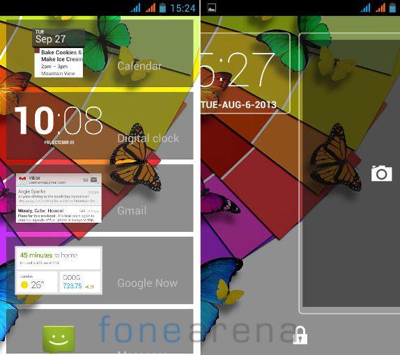 Xolo Q600 Lock Screen Widgets