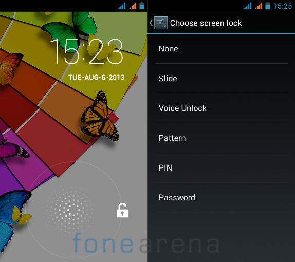 Xolo Q600 Lock Screen