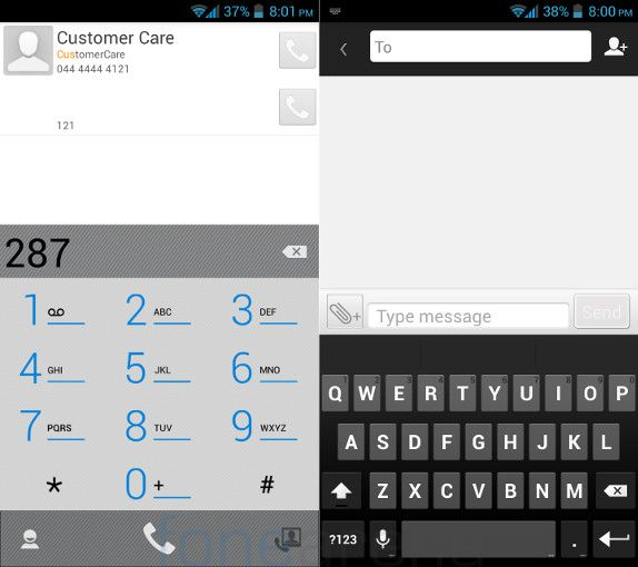 Gionee Elife E5 Dialer and Messaging