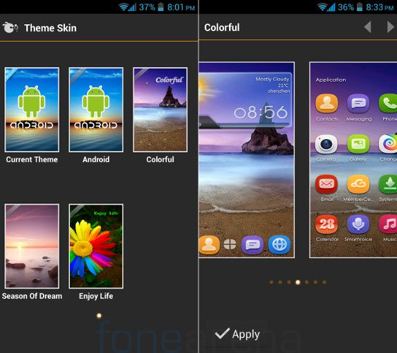 Gionee Elife E5 Themes