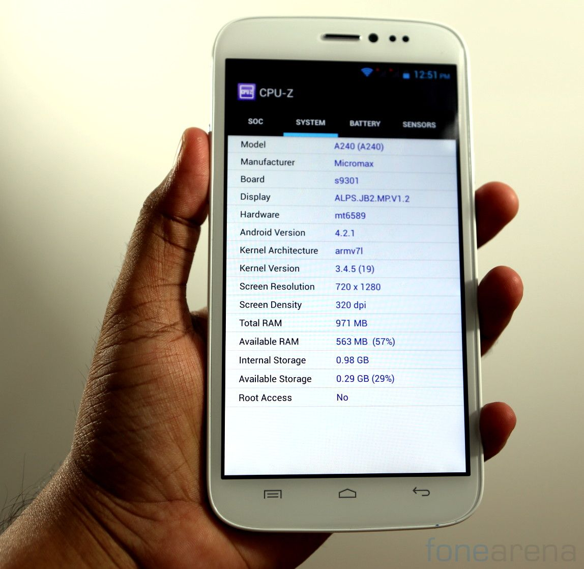 Micromax Canvas Doodle 2 A240 Benchmarks