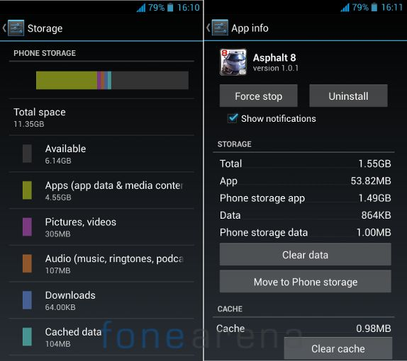 Xolo Q1000S Memory and App to SD