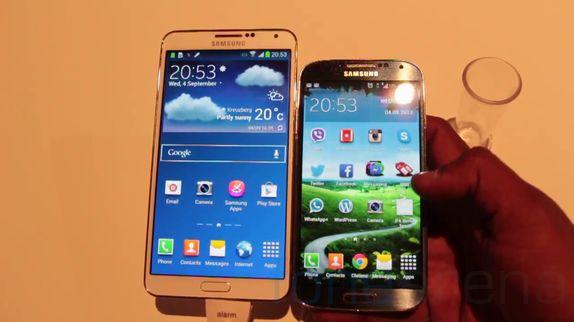 Samsung galaxy note 3 vs galaxy s4 hands on comparison pc items
