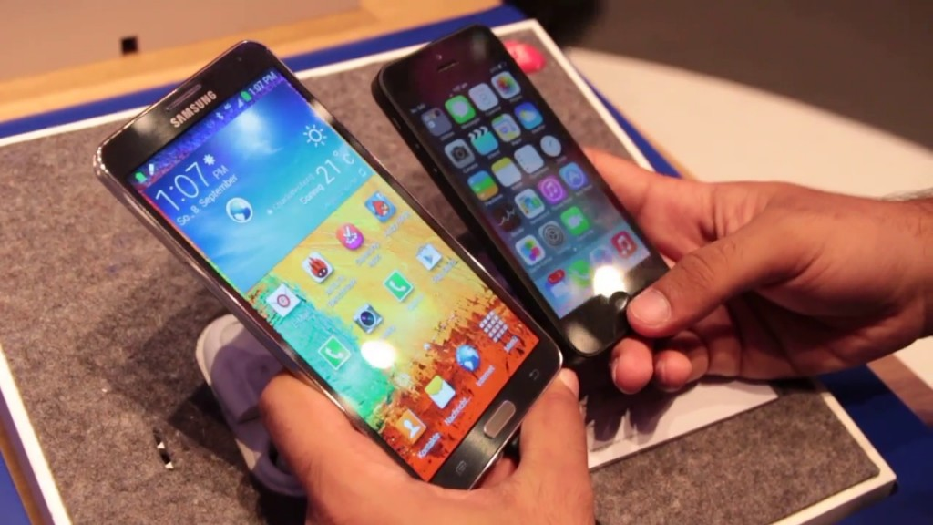 Samsung Galaxy Note 3 Vs Apple Iphone 5 1 Fone Arena