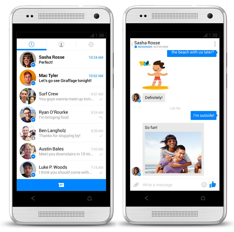 Phone Messenger For Android Phone facebook messenger for android gets a new design and features