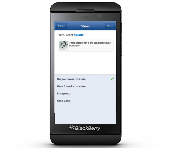 Facebook withdraws support for Blackberry 10 and BBOS