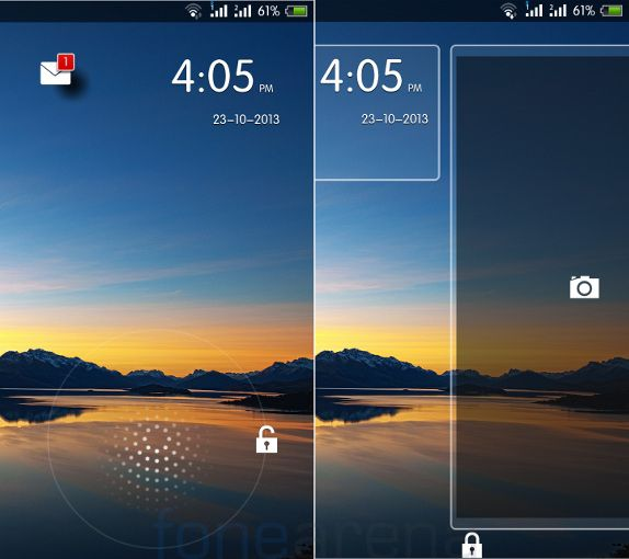 Intex Aqua HD Lockscreen and Widgets