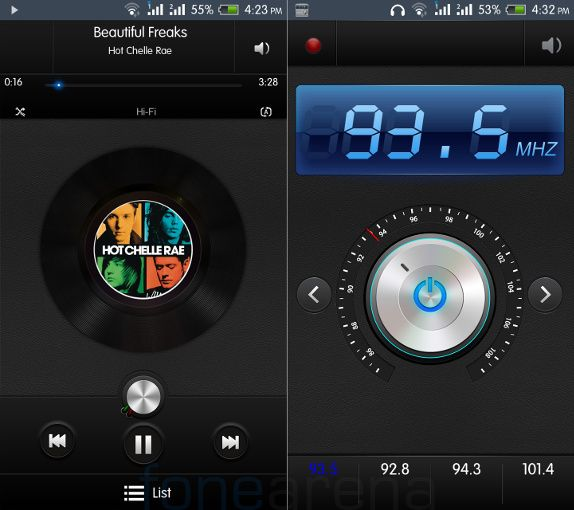Intex Aqua HD MusicPlayer and FM Radio