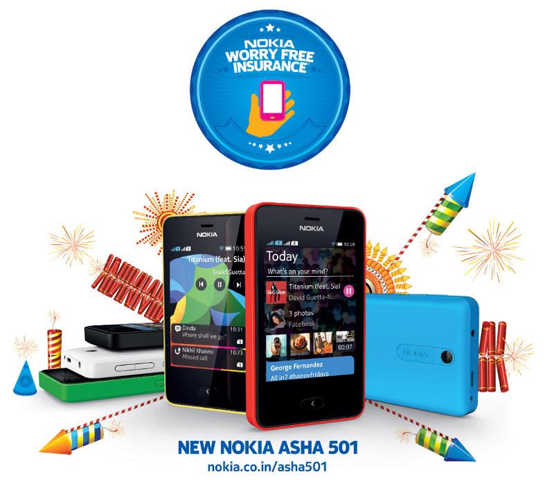 Nokia Asha 501 Free Insurance