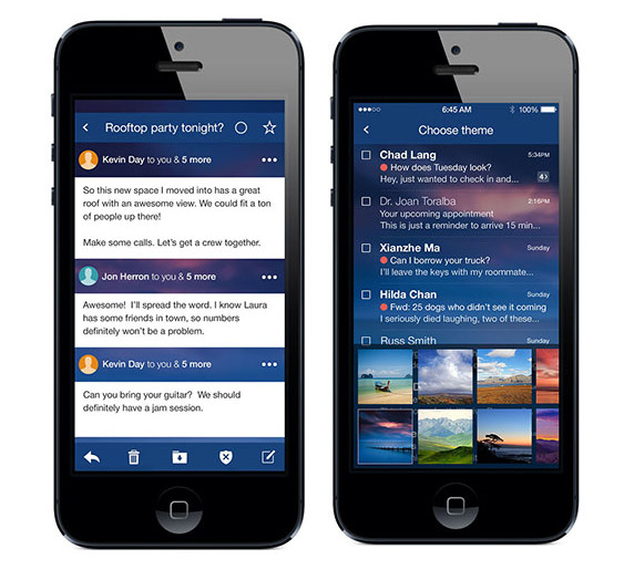 how to search yahoo mail on iphone