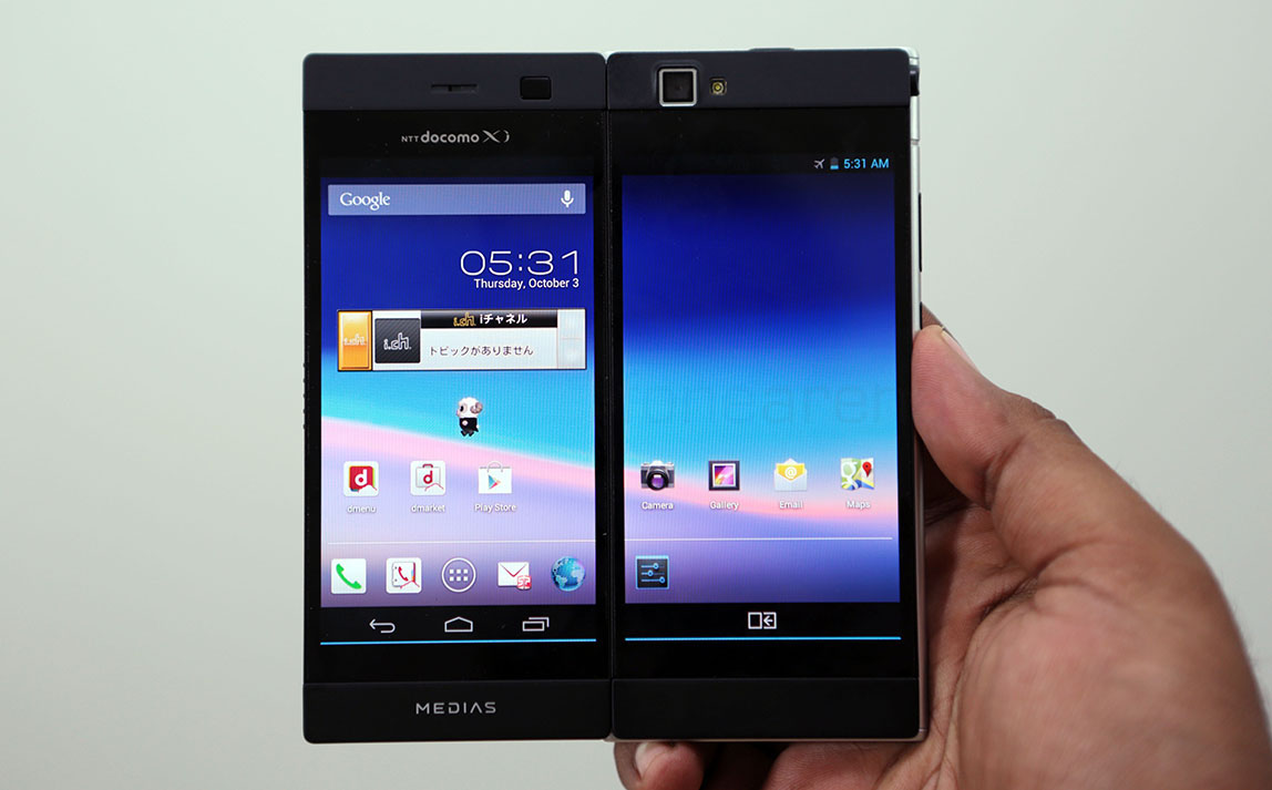 Nec Medias W Dual Screen Android Phone Unboxing