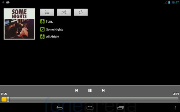 Xolo Play Tab 7.0 Musicplayer