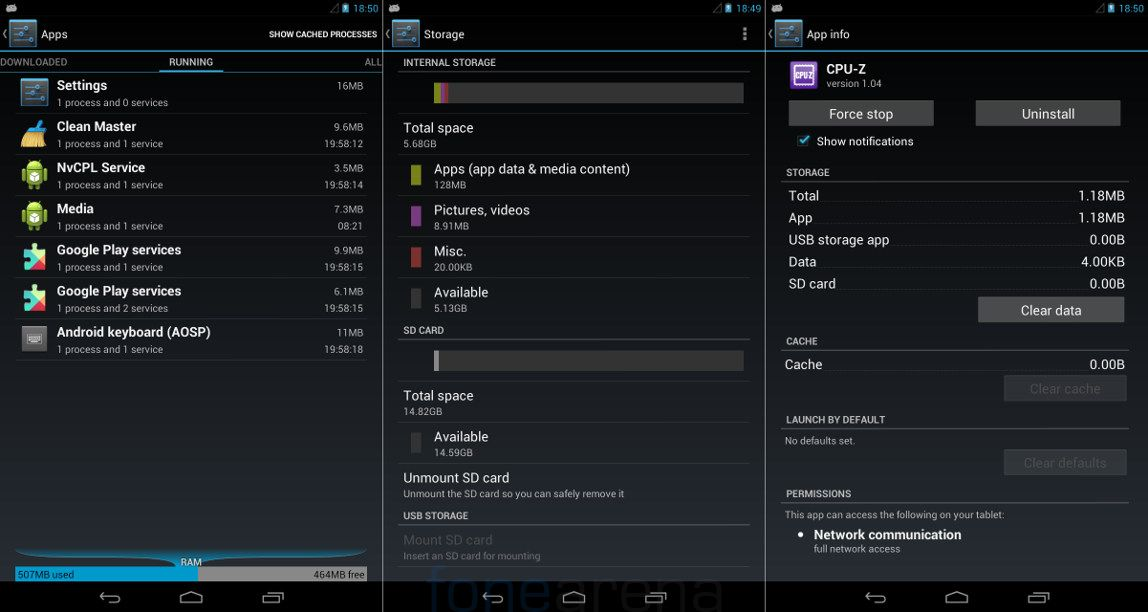 Xolo Play Tab 7.0 RAM and Memory