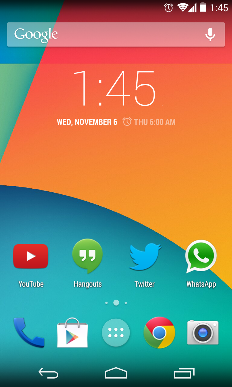 how to change launcher android 4.4