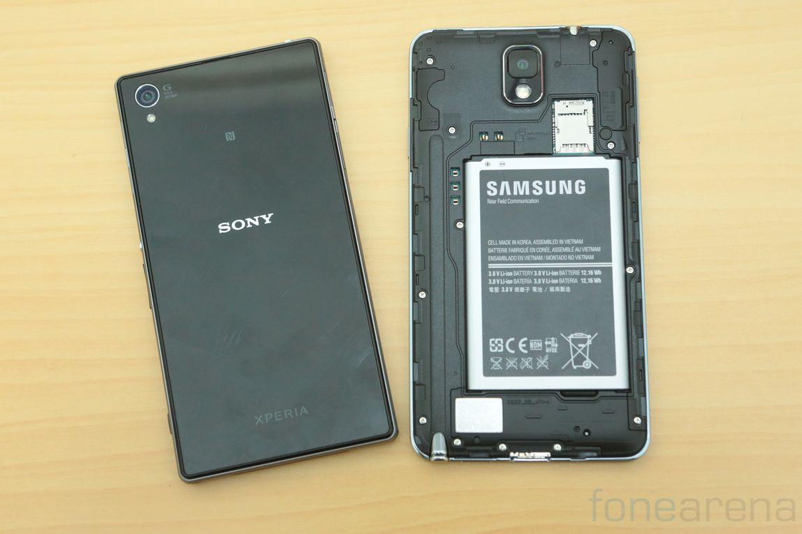 Samsung Galaxy Note 3 vs Sony Xperia Z1