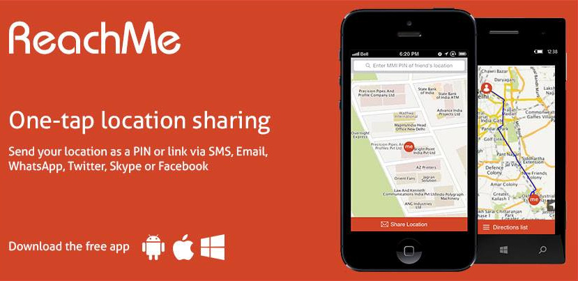 Mapmyindia Launches Reachme Real Time Location Sharing