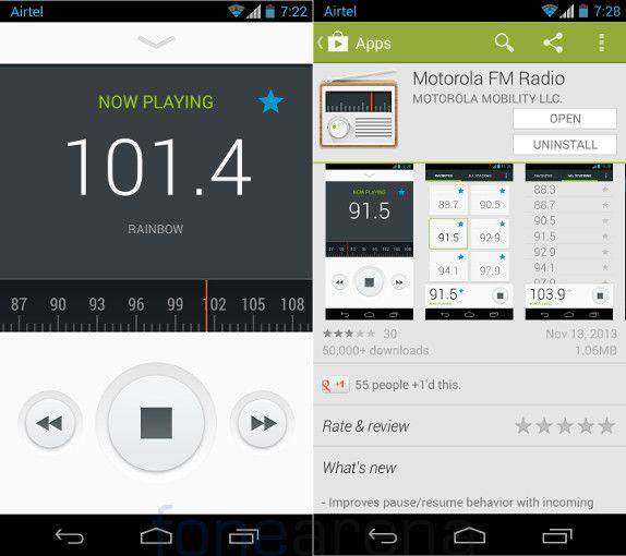 Motorola Moto G FM Radio