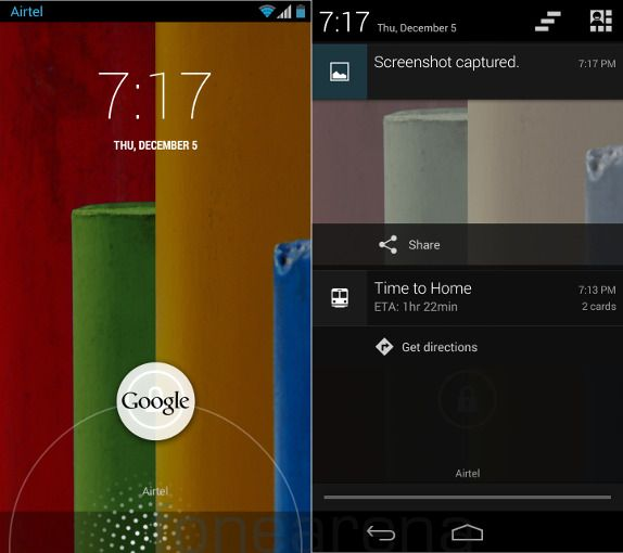 Motorola Moto G Lockscreen and Notifications