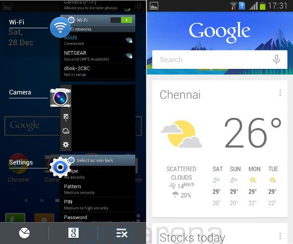 Samsung Galaxy Star Pro Multitasking and GoogleNow