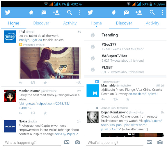 Twitter for Android updated with a new design, option to ...