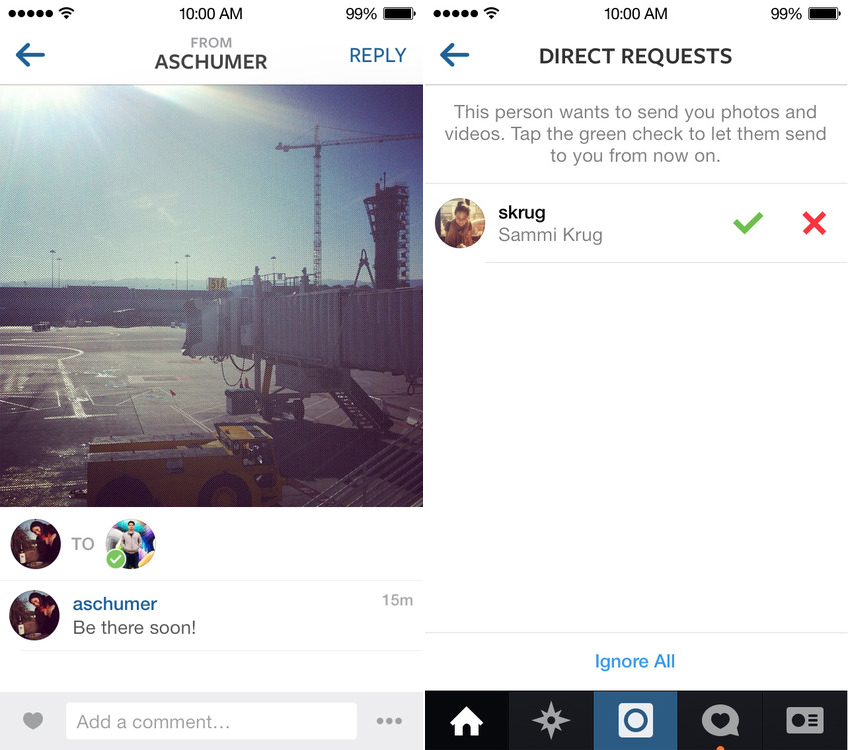 how to send videos on instagram direct