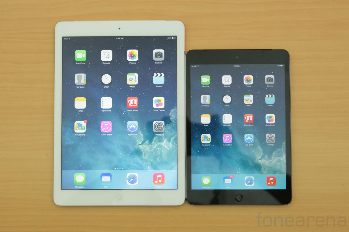 Image Gallery ipad mini versus ipad