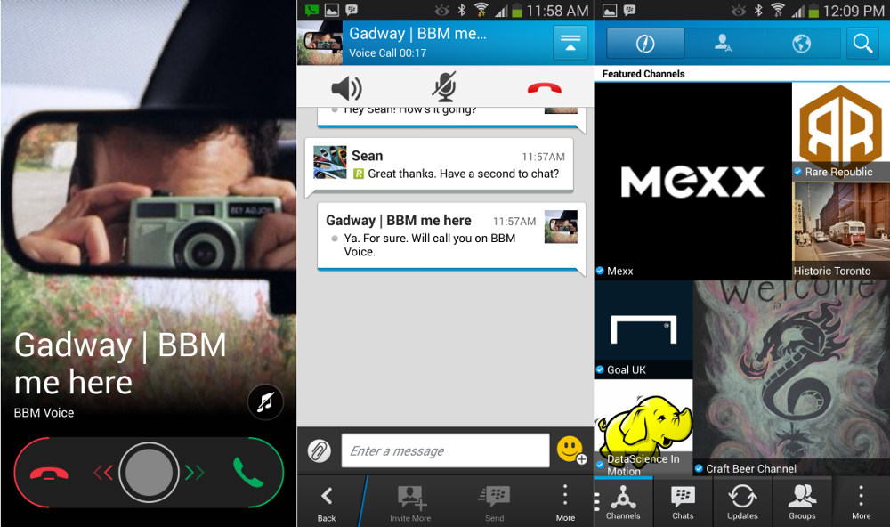 BBM Beta 2 for Android BBM Voice and Channels