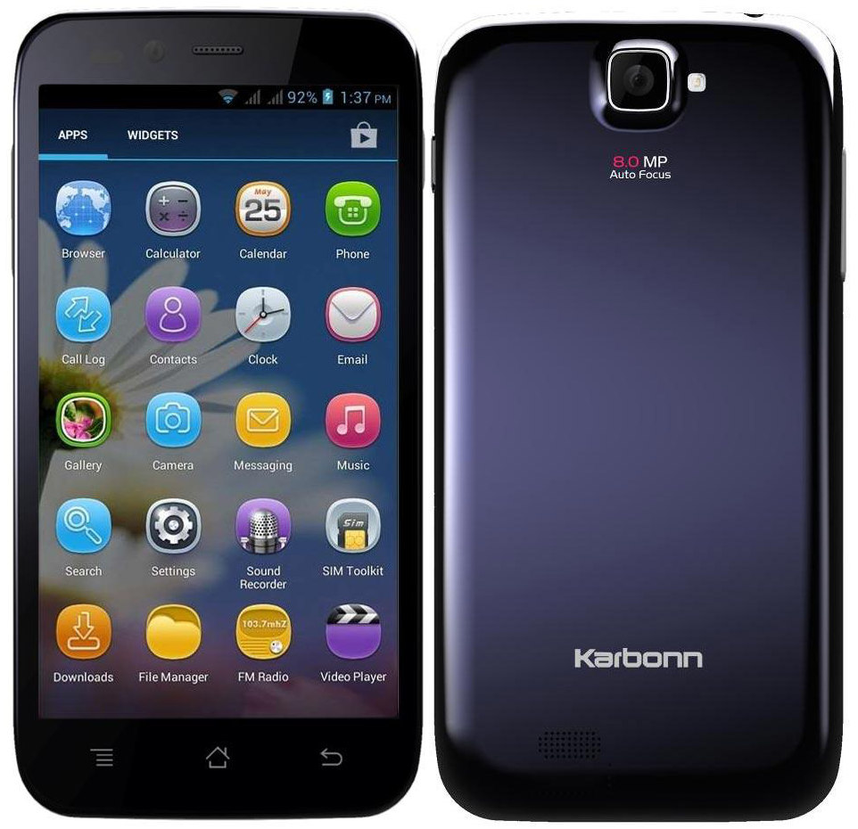 Phone Karbonn All Android Phone karbonn titanium s5i with 5 inch display dual core processor listed online