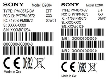 Sony Xperia E1 and E1 Dual FCC