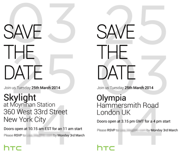 HTC One 2014 Edition launch event invite