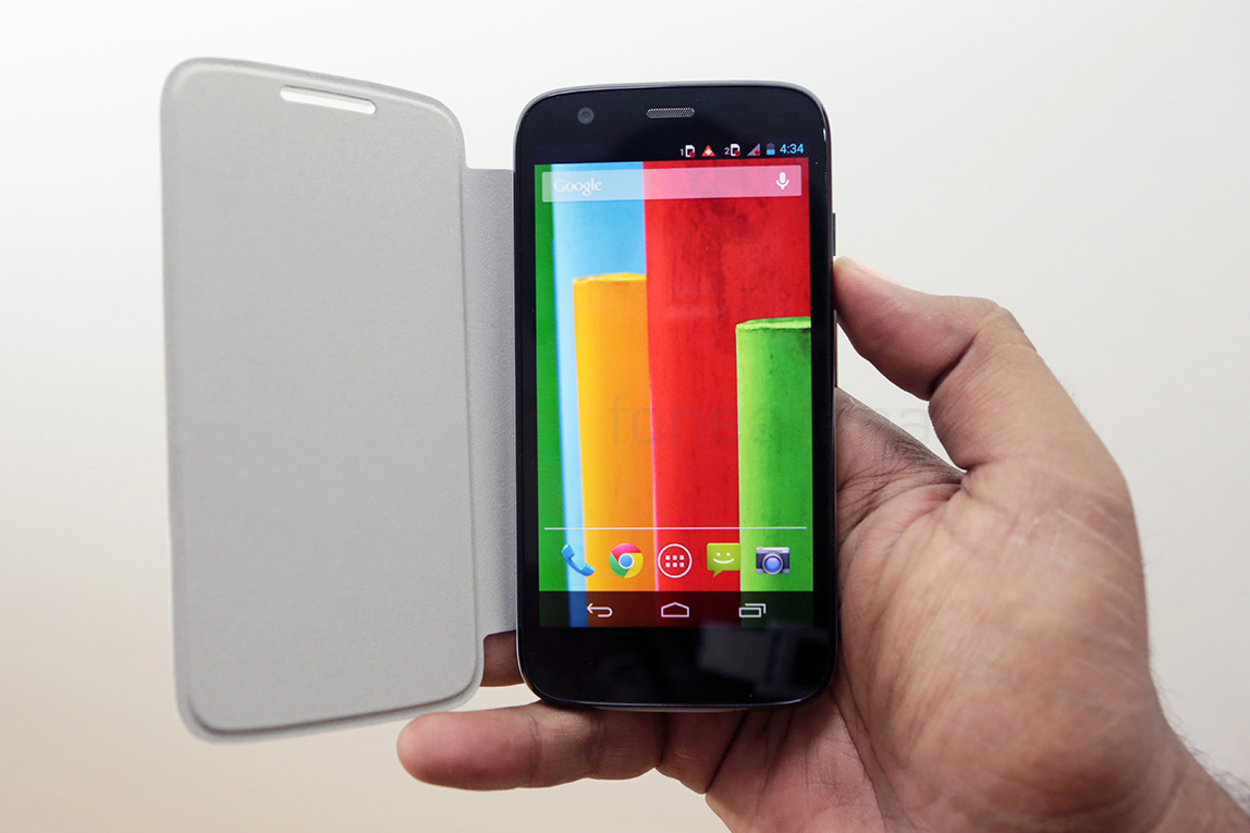 motorola moto g flip shell in white pictures and video. Black Bedroom Furniture Sets. Home Design Ideas