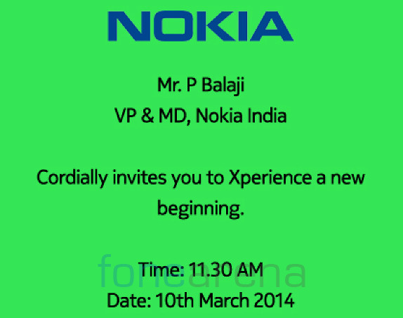 Nokia X Launch Invite