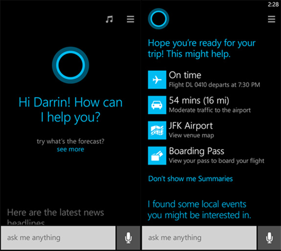 Google Voice Search For Ios Not A Siri Competitor Still: This Is Cortana, Microsoft's Take On Siri And Google Now