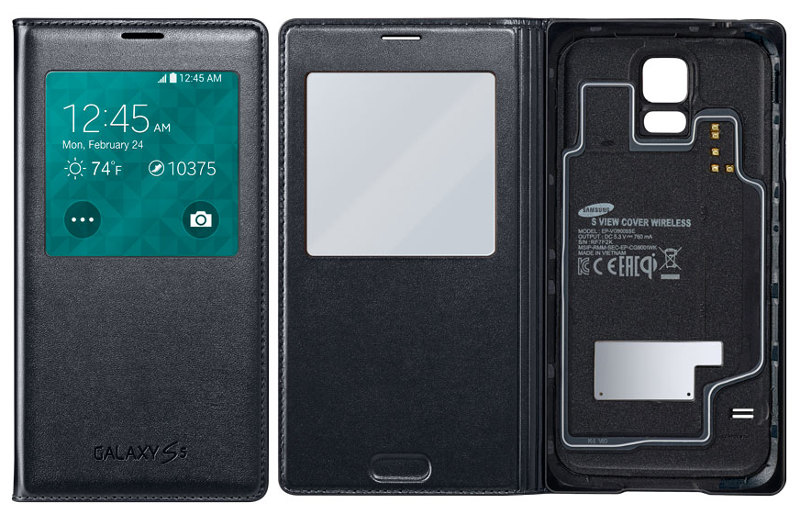 Samsung Galaxy S5 Wireless Charging Covers unveiled