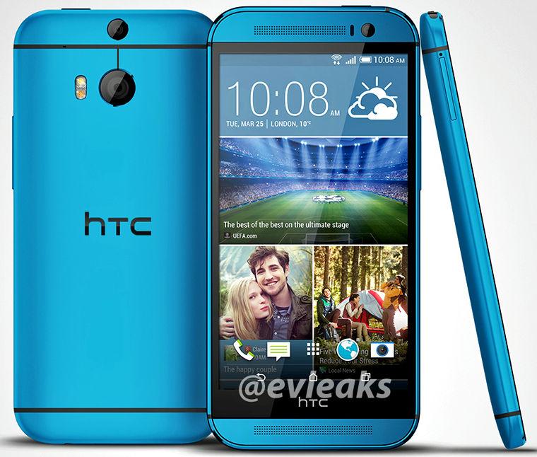 Blue HTC One M8 press image leaks