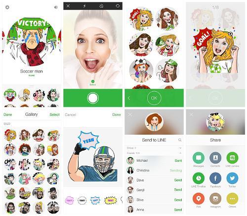 Selfie sticker app